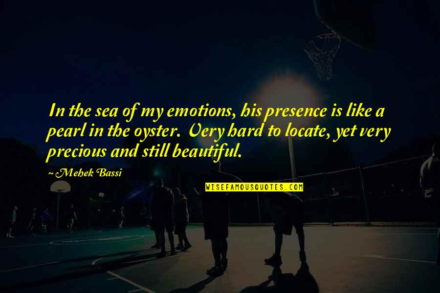 The Sea And Love Quotes By Mehek Bassi: In the sea of my emotions, his presence