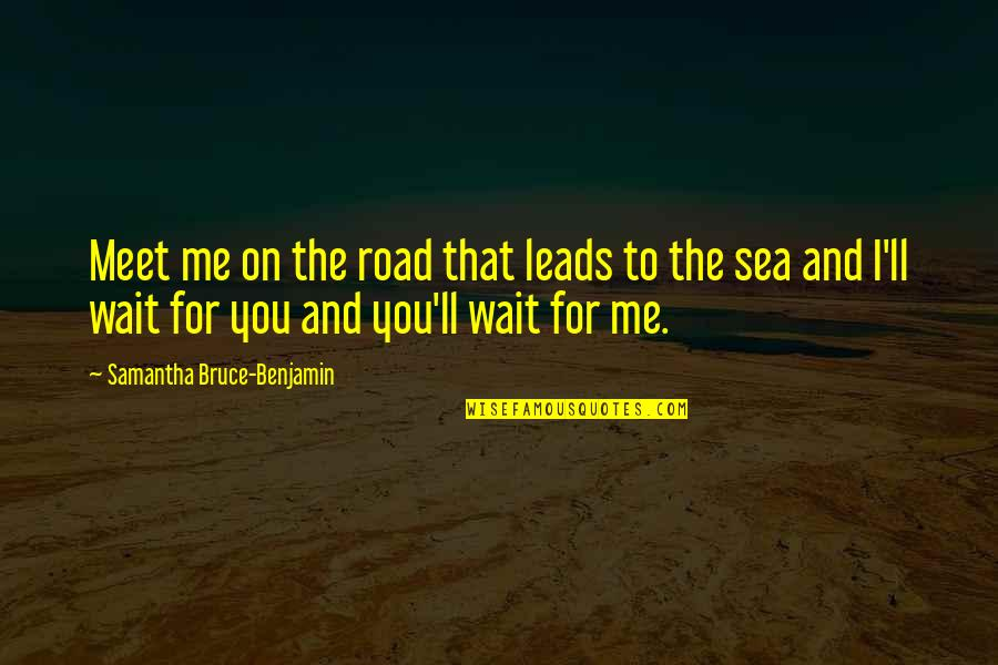 The Sea And Love Quotes By Samantha Bruce-Benjamin: Meet me on the road that leads to