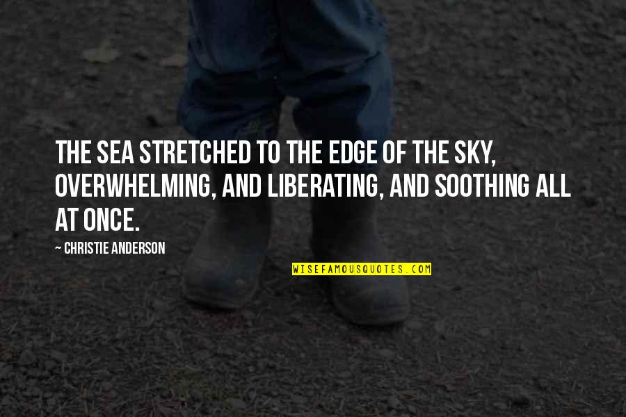 The Sea And The Sky Quotes By Christie Anderson: The sea stretched to the edge of the