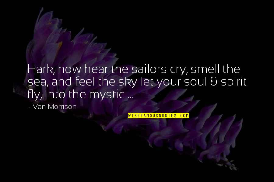 The Sea And The Sky Quotes By Van Morrison: Hark, now hear the sailors cry, smell the
