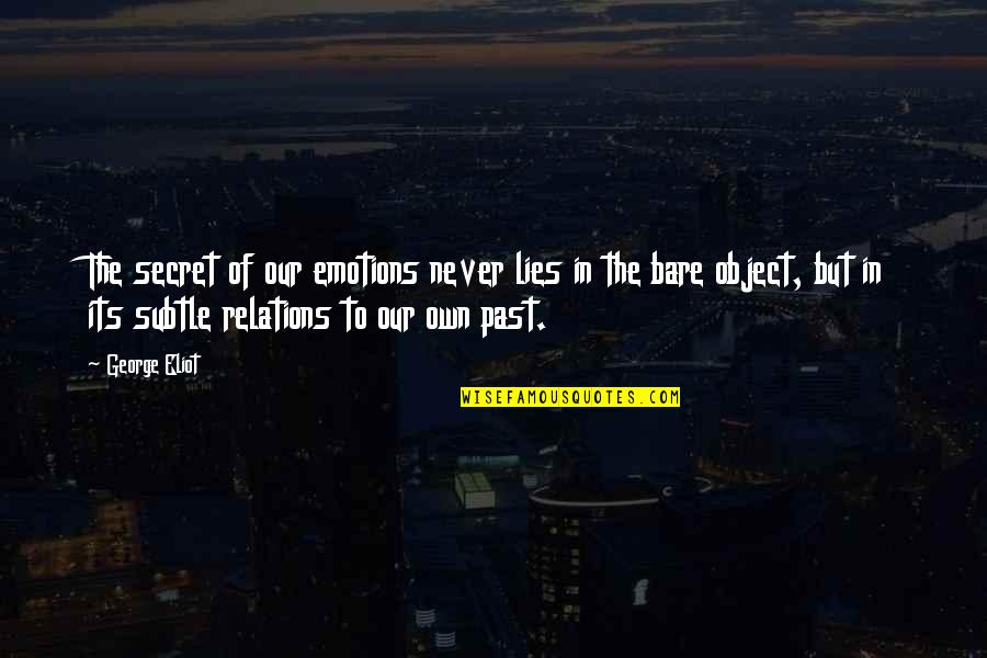 The Secret Quotes By George Eliot: The secret of our emotions never lies in