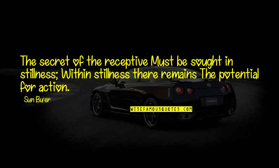 The Secret Quotes By Sun Bu'er: The secret of the receptive Must be sought