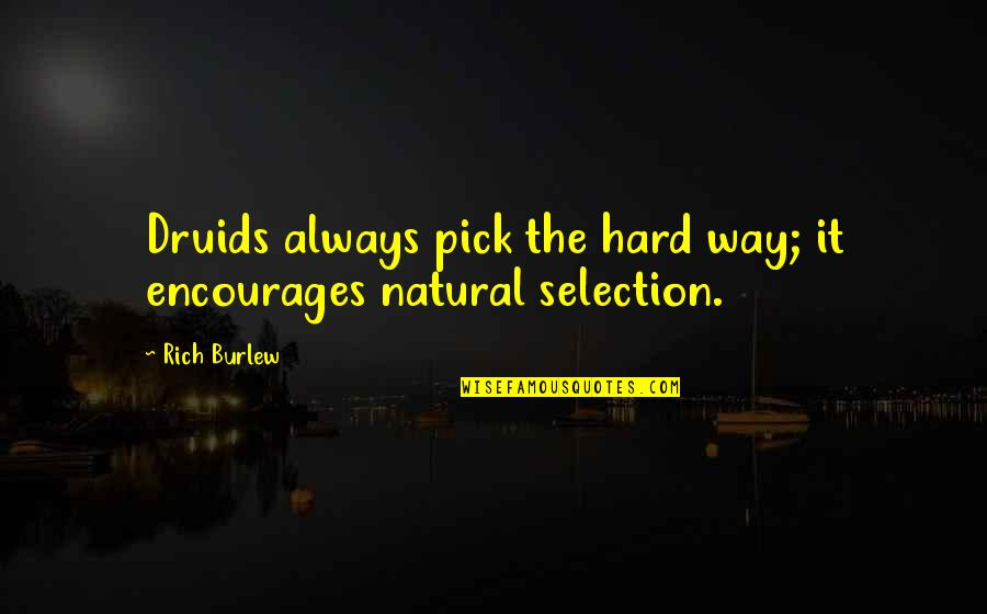 The Selection Quotes By Rich Burlew: Druids always pick the hard way; it encourages