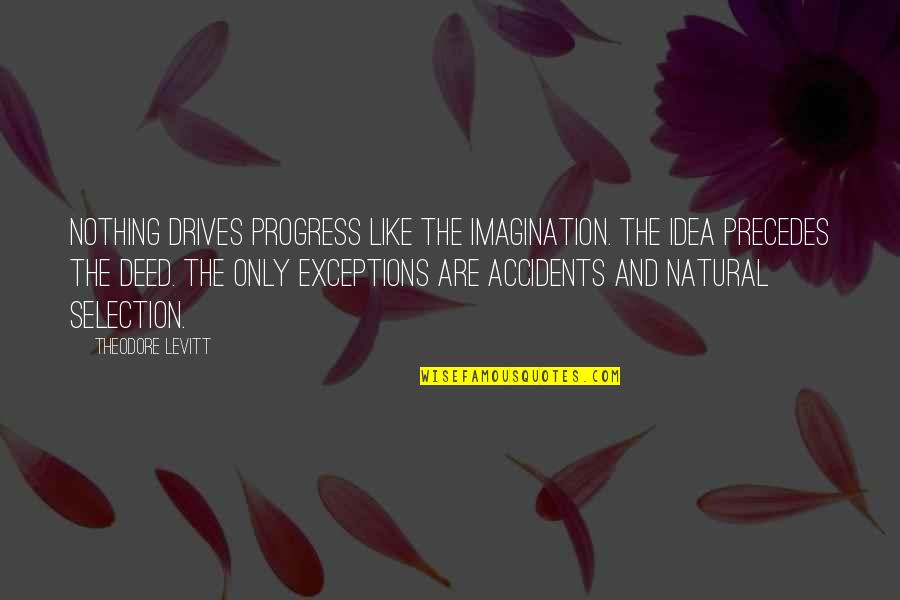 The Selection Quotes By Theodore Levitt: Nothing drives progress like the imagination. The idea