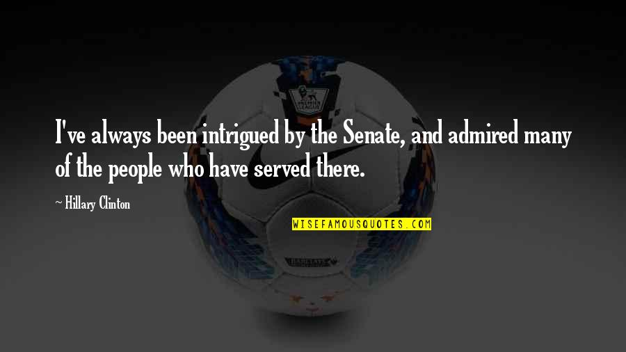 The Senate Quotes By Hillary Clinton: I've always been intrigued by the Senate, and
