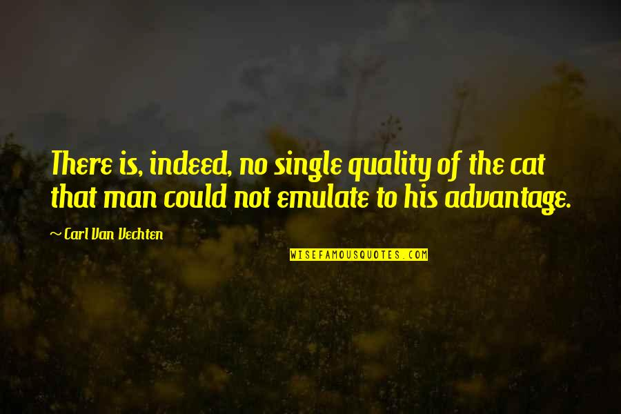 The Single Man Quotes By Carl Van Vechten: There is, indeed, no single quality of the