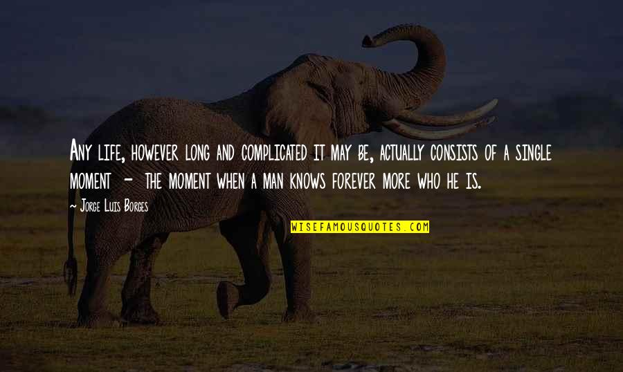 The Single Man Quotes By Jorge Luis Borges: Any life, however long and complicated it may