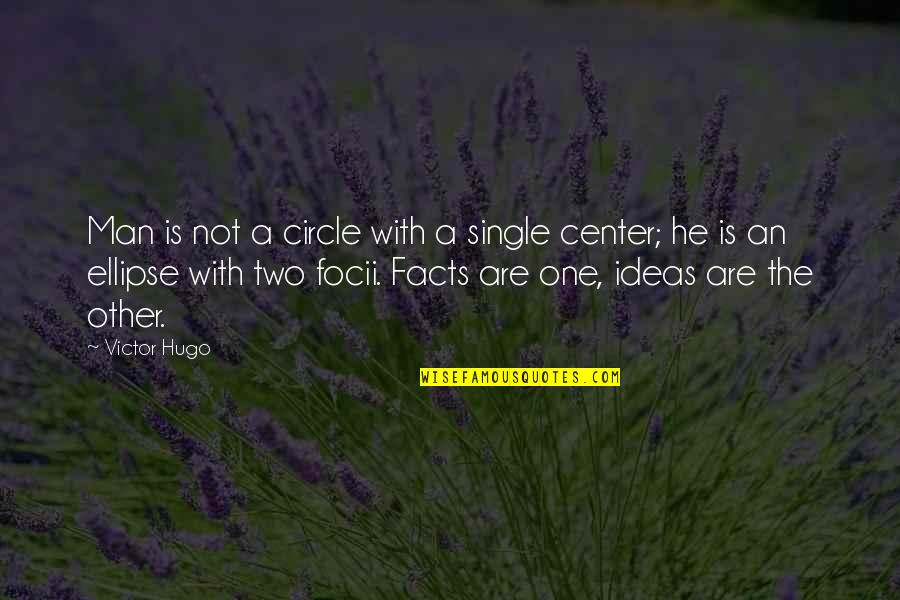 The Single Man Quotes By Victor Hugo: Man is not a circle with a single