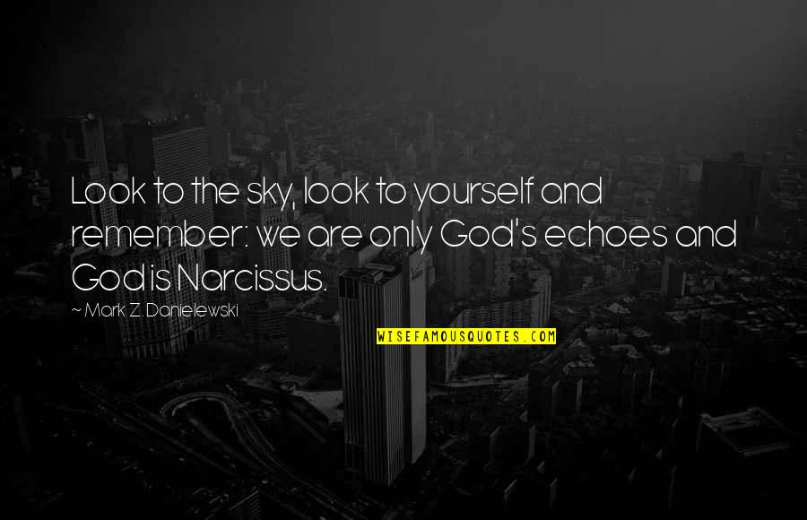 The Sky And God Quotes By Mark Z. Danielewski: Look to the sky, look to yourself and