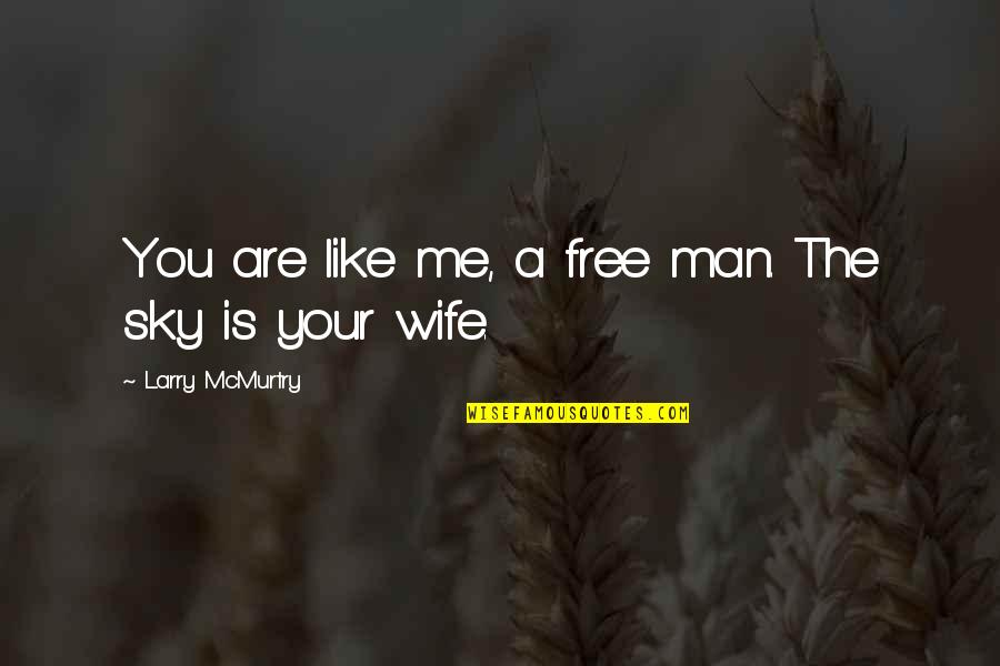 The Sky Quotes By Larry McMurtry: You are like me, a free man. The