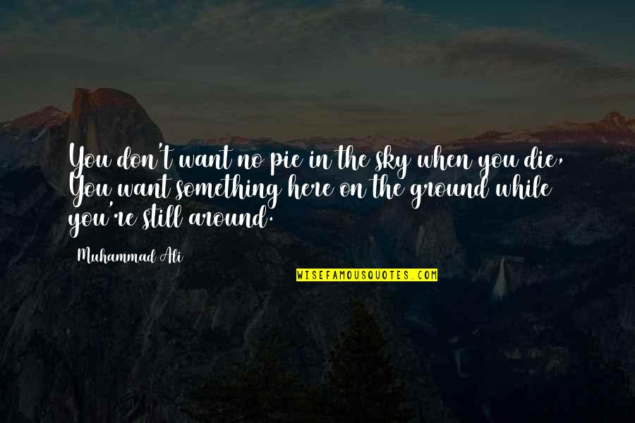 The Sky Quotes By Muhammad Ali: You don't want no pie in the sky