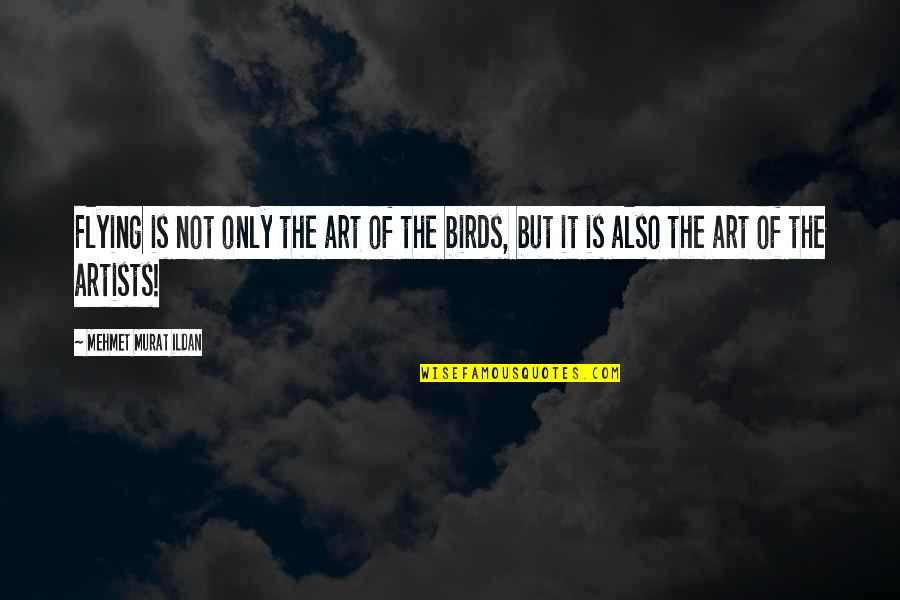 The Soul Of The World In The Alchemist Quotes By Mehmet Murat Ildan: Flying is not only the art of the
