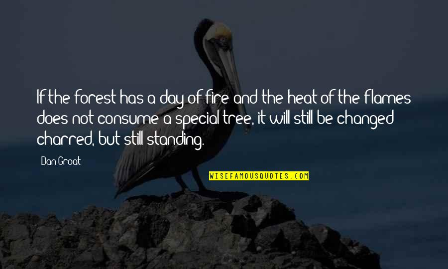The Special Day Quotes By Dan Groat: If the forest has a day of fire
