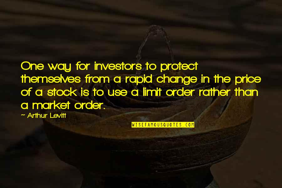 The Stock Market Quotes By Arthur Levitt: One way for investors to protect themselves from