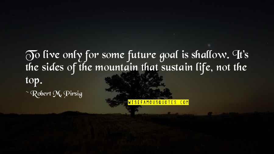 The Summer I Wasn't Me Quotes By Robert M. Pirsig: To live only for some future goal is