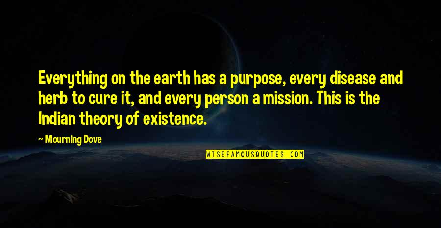 The Theory Of Everything Quotes By Mourning Dove: Everything on the earth has a purpose, every