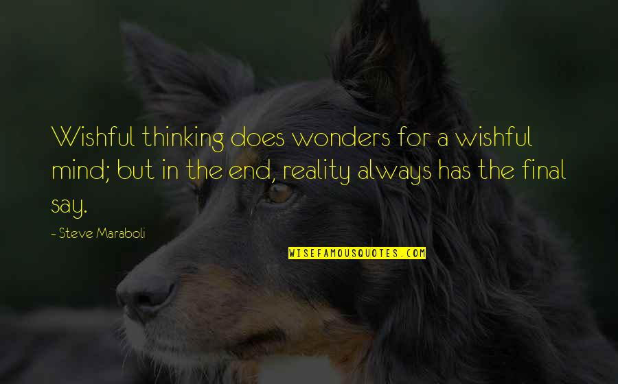 The Thinking Mind Quotes By Steve Maraboli: Wishful thinking does wonders for a wishful mind;