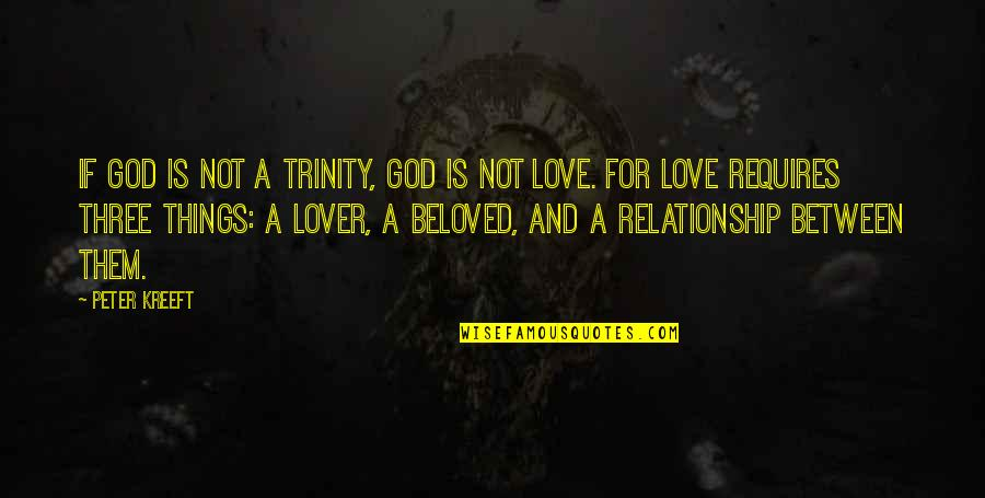 The Trinity Of God Quotes By Peter Kreeft: If God is not a Trinity, God is