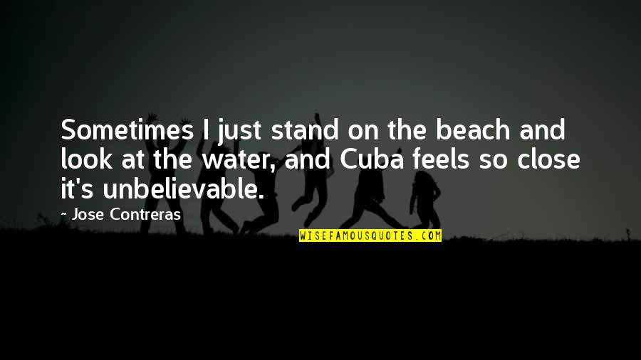 The Unbelievable Quotes By Jose Contreras: Sometimes I just stand on the beach and