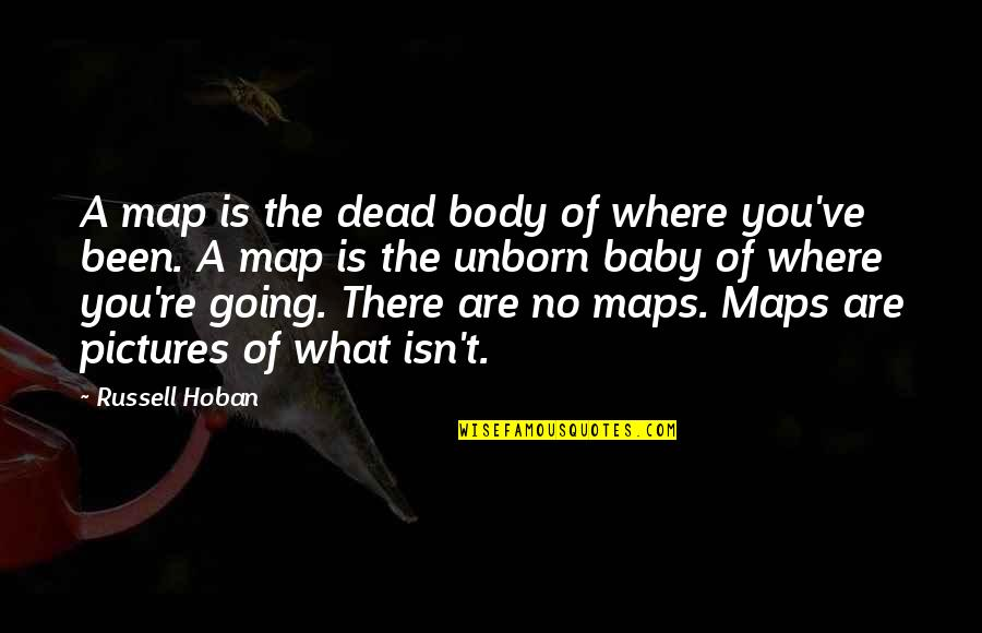 The Unborn Baby Quotes By Russell Hoban: A map is the dead body of where