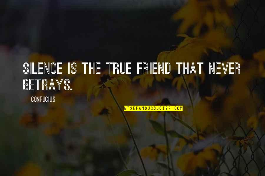 The Unforgiving Minute Quotes By Confucius: Silence is the true friend that never betrays.