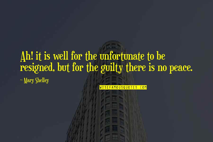 The Unfortunate Quotes By Mary Shelley: Ah! it is well for the unfortunate to