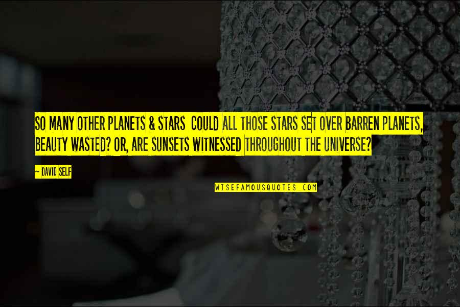 The Universe And Planets Quotes By David Self: So many other planets & stars could all