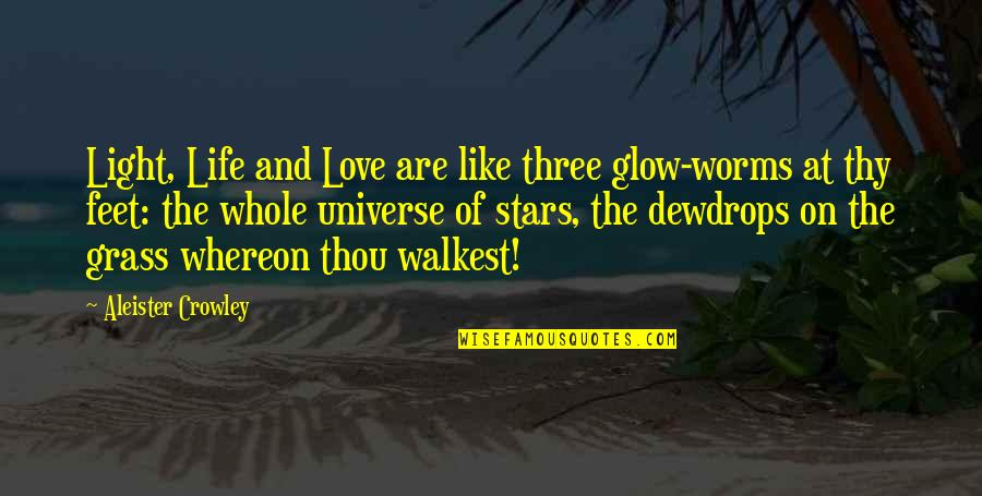 The Universe And Stars Quotes By Aleister Crowley: Light, Life and Love are like three glow-worms
