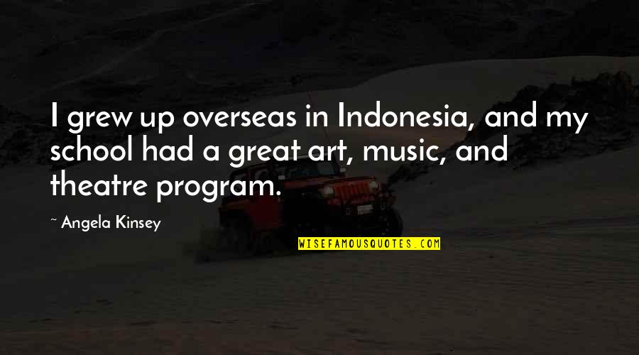 The Universe Goodreads Quotes By Angela Kinsey: I grew up overseas in Indonesia, and my