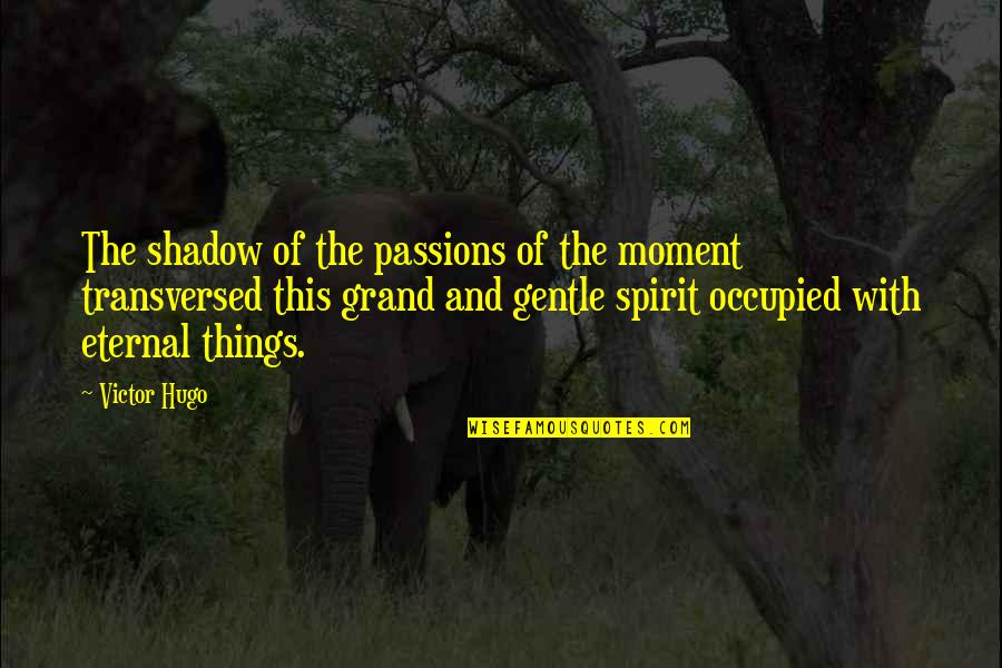 The Victor Quotes By Victor Hugo: The shadow of the passions of the moment