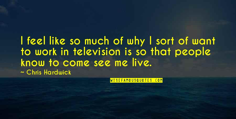 The Virtual World Quotes By Chris Hardwick: I feel like so much of why I