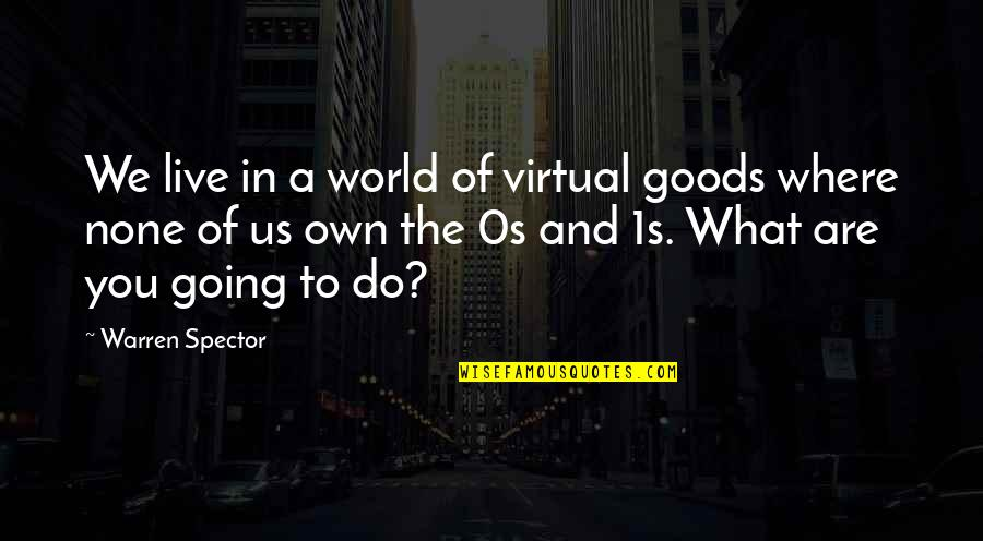 The Virtual World Quotes By Warren Spector: We live in a world of virtual goods