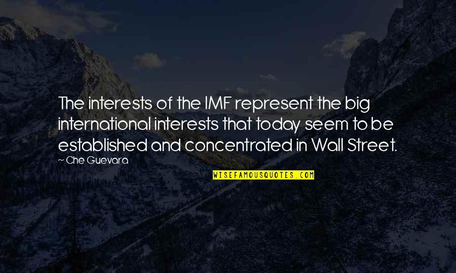 The Wall Street Quotes By Che Guevara: The interests of the IMF represent the big