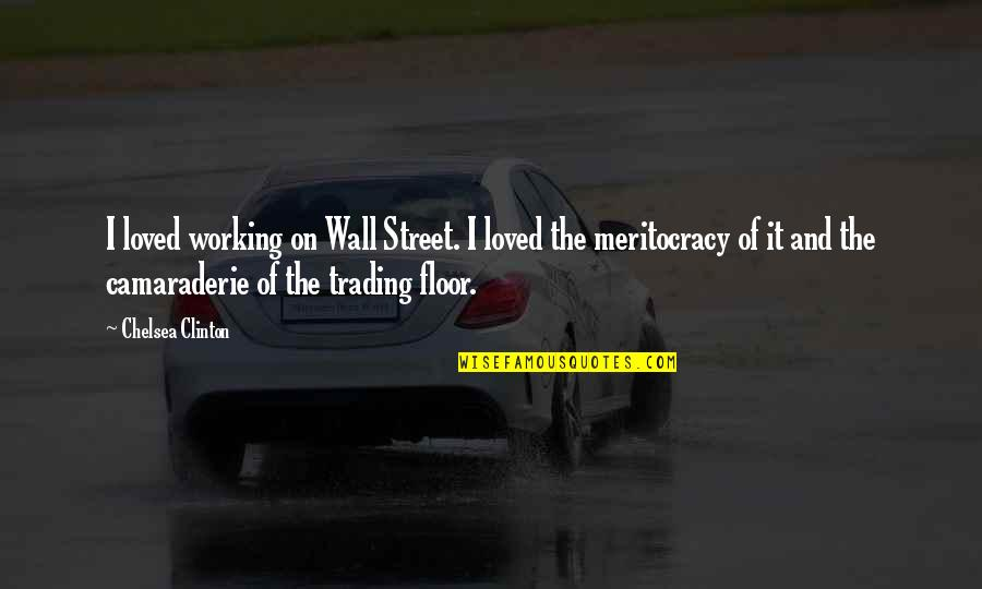 The Wall Street Quotes By Chelsea Clinton: I loved working on Wall Street. I loved
