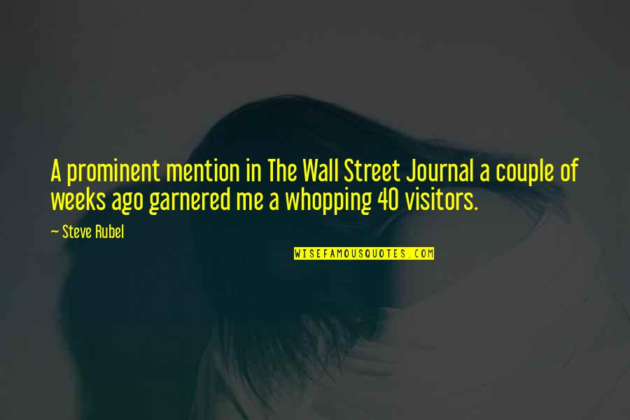 The Wall Street Quotes By Steve Rubel: A prominent mention in The Wall Street Journal