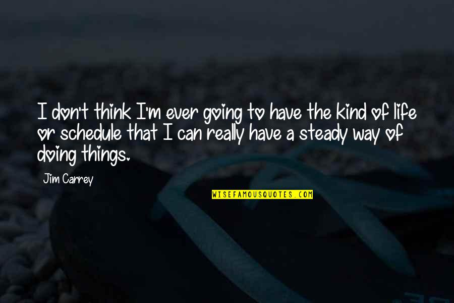 The Way I'm Quotes By Jim Carrey: I don't think I'm ever going to have
