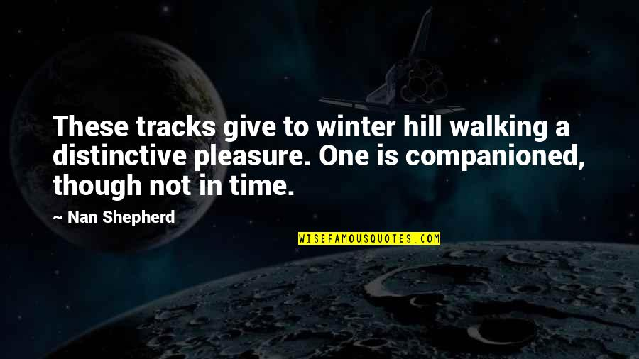 The Way Of The Wild Heart Quotes By Nan Shepherd: These tracks give to winter hill walking a