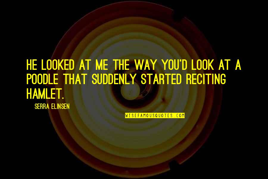 The Way You Look At Me Quotes By Serra Elinsen: He looked at me the way you'd look
