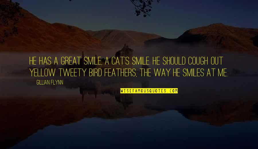 The Way You Smile At Me Quotes By Gillian Flynn: He has a great smile, a cat's smile.