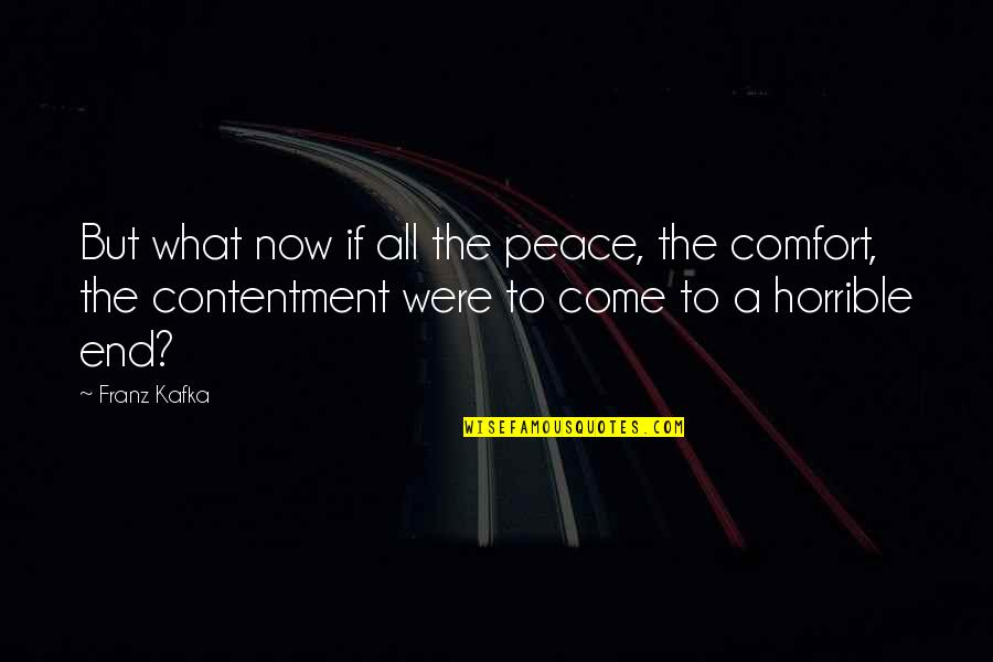 The What If Quotes By Franz Kafka: But what now if all the peace, the