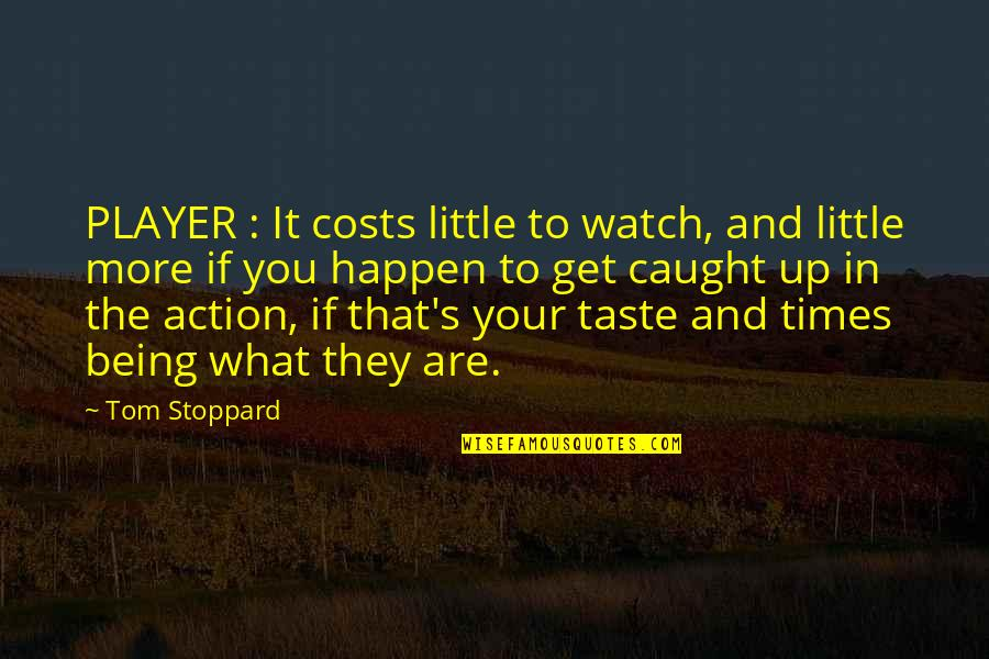 The What If Quotes By Tom Stoppard: PLAYER : It costs little to watch, and
