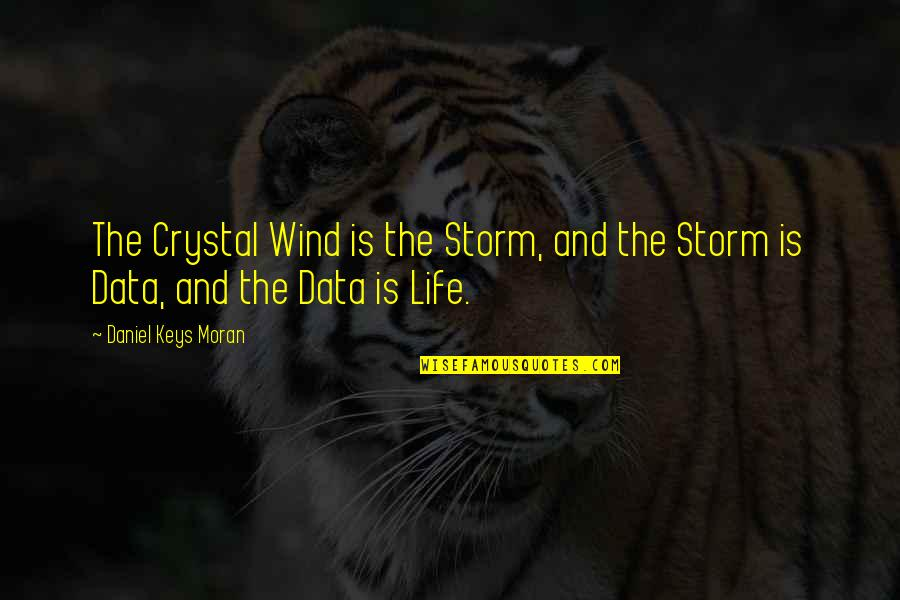 The Wind And Life Quotes By Daniel Keys Moran: The Crystal Wind is the Storm, and the