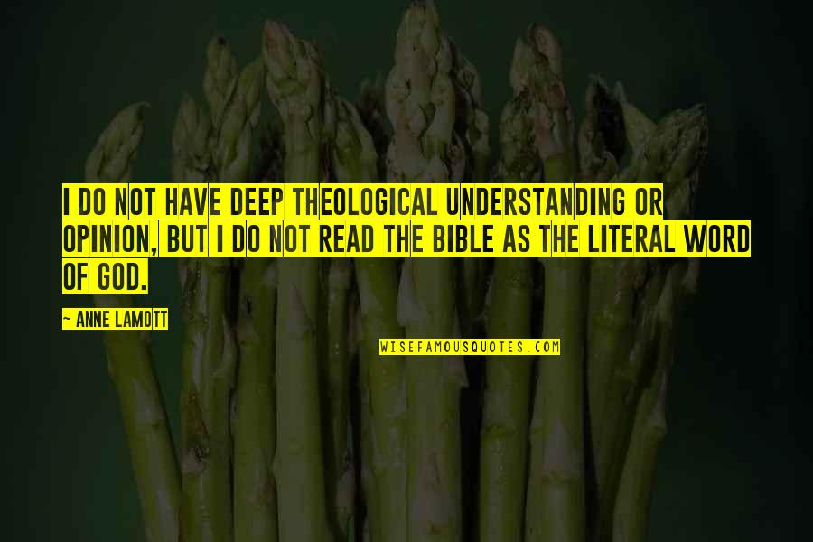 The Word Of God Quotes By Anne Lamott: I do not have deep theological understanding or