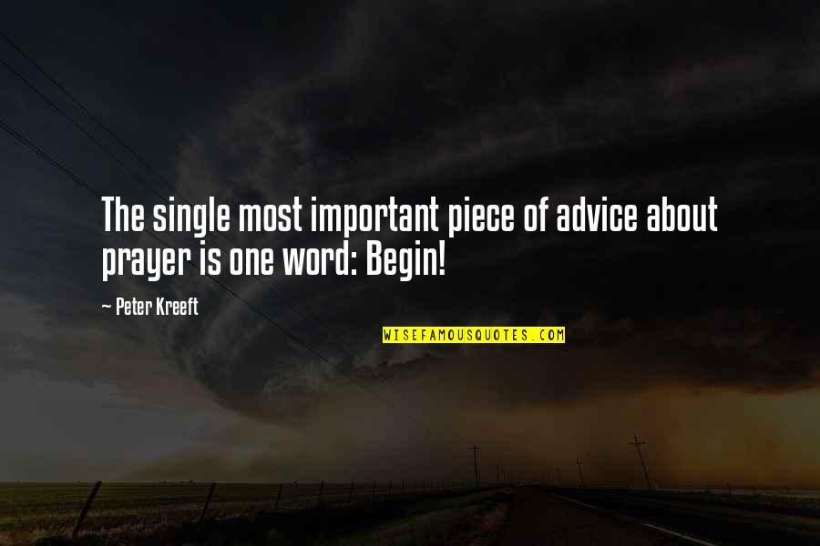 The Word Of God Quotes By Peter Kreeft: The single most important piece of advice about