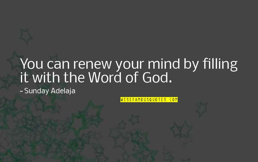 The Word Of God Quotes By Sunday Adelaja: You can renew your mind by filling it