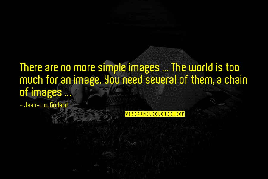 The World Needs You Quotes By Jean-Luc Godard: There are no more simple images ... The