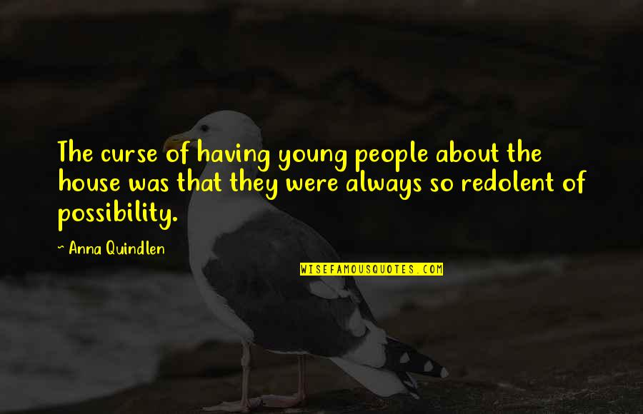 The Youth Quotes By Anna Quindlen: The curse of having young people about the