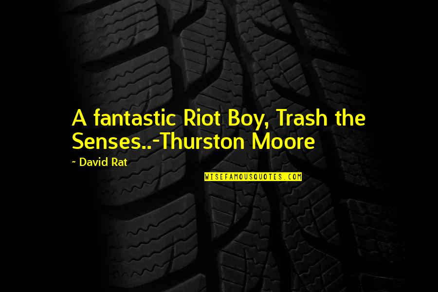 The Youth Quotes By David Rat: A fantastic Riot Boy, Trash the Senses..-Thurston Moore