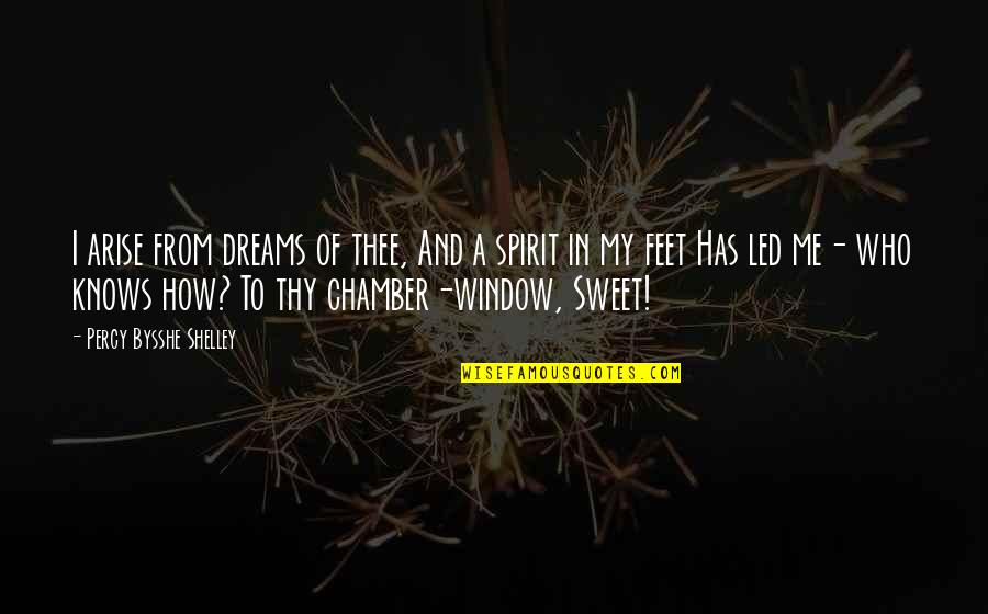 Thee Quotes By Percy Bysshe Shelley: I arise from dreams of thee, And a
