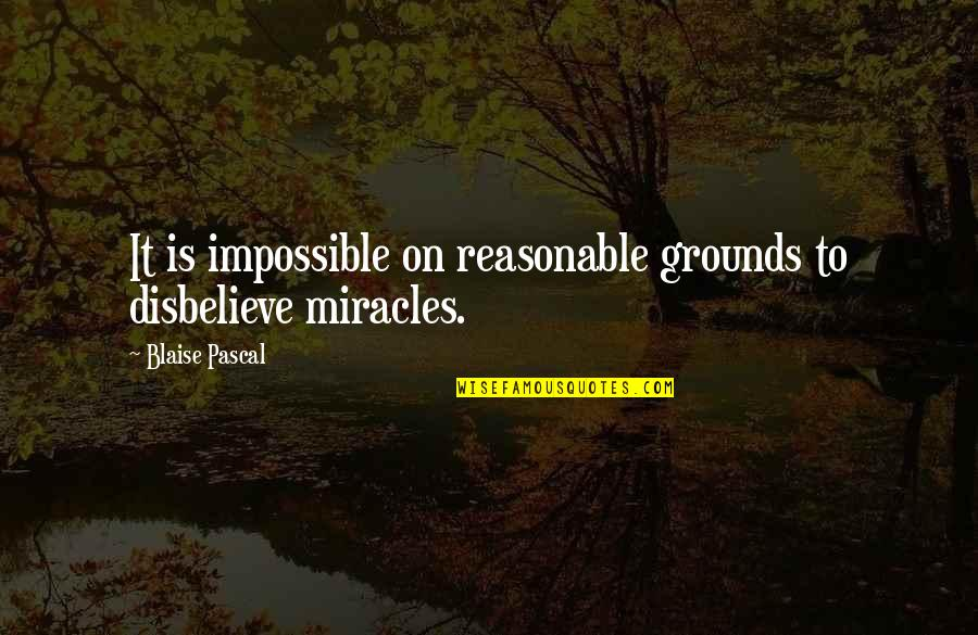 Themeless Quotes By Blaise Pascal: It is impossible on reasonable grounds to disbelieve